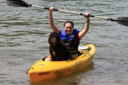 We love to go kayaking!